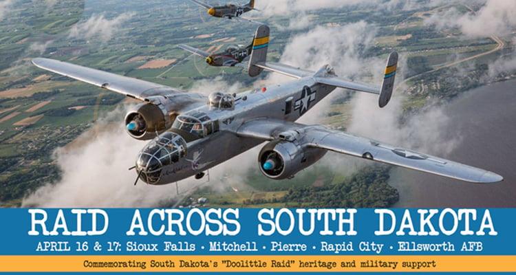 Raid Across South Dakota - Doolittle Raid - Aircraft Events - Norfolk Aviation