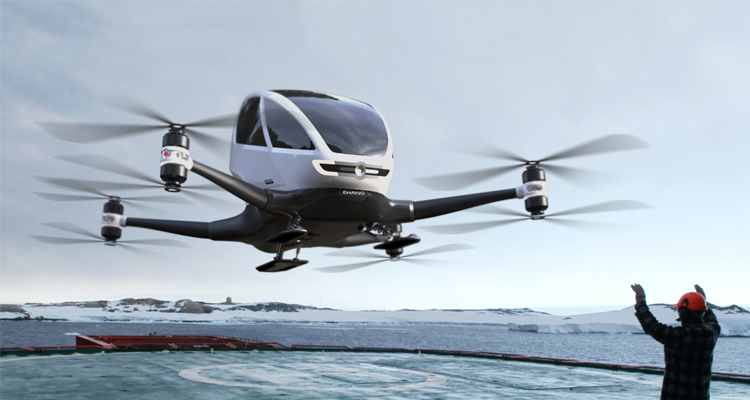 EHang Autonomous Aircraft - The First Flight - Small Aircraft - Pilotless Aircraft