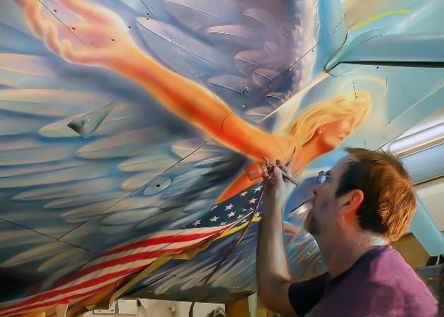 American Angel- Norfolk Aviation - Piston Aircraft - John Stahr - Aircraft Painting